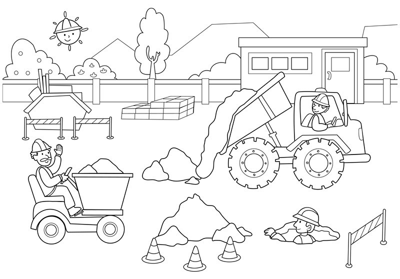 road construction equipment coloring pages - photo#17