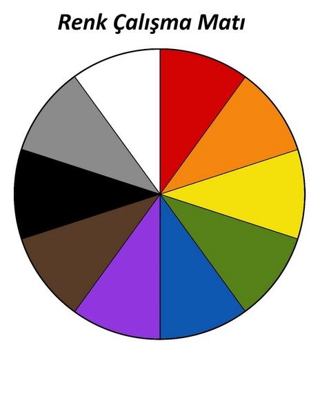 renk matı taslak