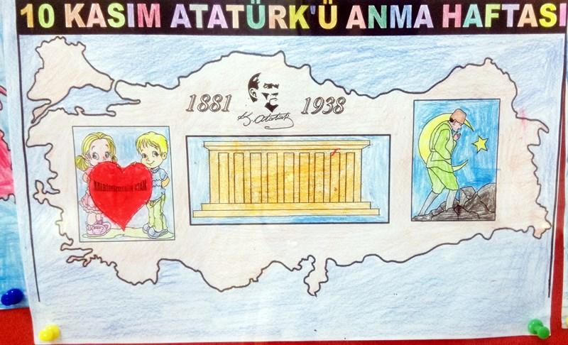 10 Kasım Atatürkü Anma Haftası Pano çalışmaları Evimin Altın Topu