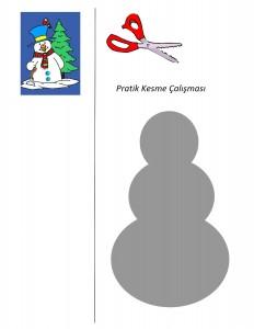 okul öncesi kardan adam etkinlikleri