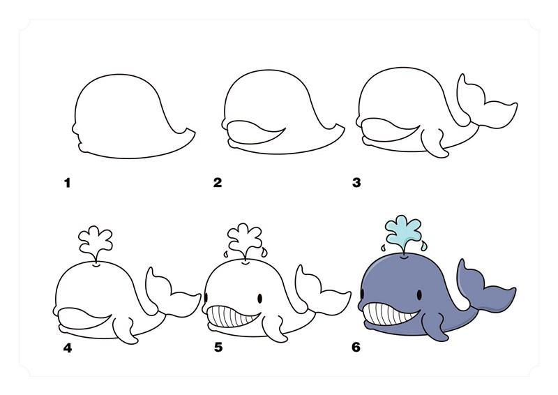 Deniz Hayvanlari Cizim Teknikleri Basit Hayvan Cizimleri