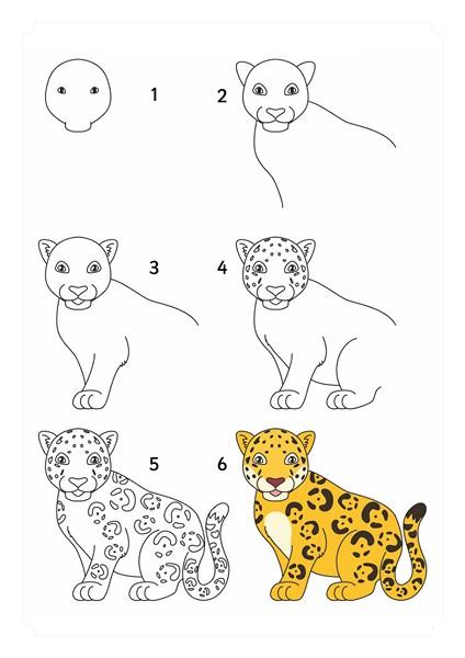 Orman Hayvanları çizim Teknikleri Evimin Altın Topu