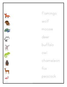 okul_öncesi_hayvanlar_kelime_eşleştirme