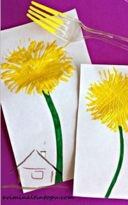 çatal_baskı_ile_çiçek_yapımı_okul_öncesi_