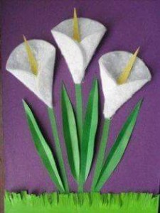 daire_kağıtlardan_çiçek