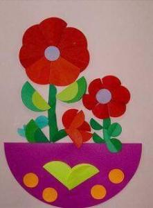 daire_kağıtlardan_çiçeklerimiz