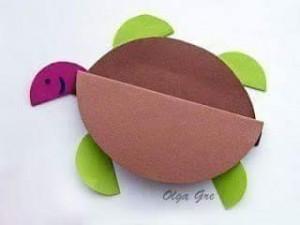 daire_kağıtlardan_kaplumbağa