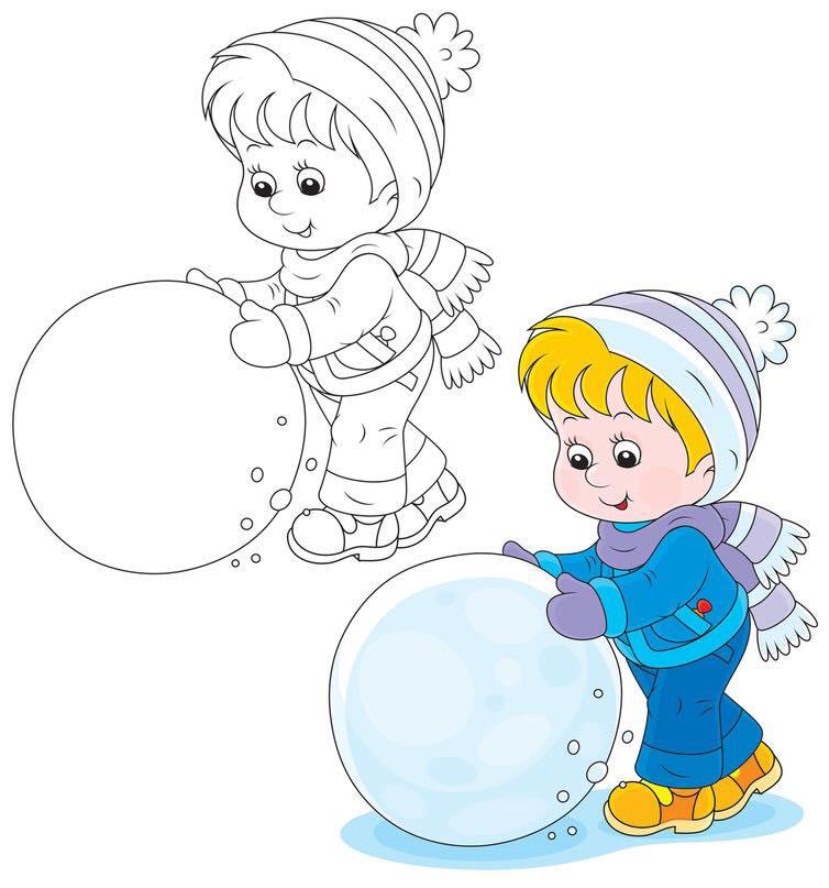 Kış Boyama Sayfaları Kış Mevsimi Boyama Sayfası Evimin Altın Topu