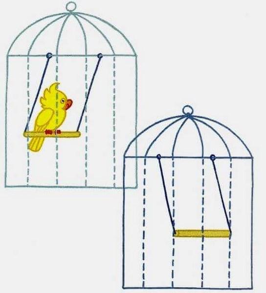 Kuş Kafesi Boyama Sayfası Gazetesujin
