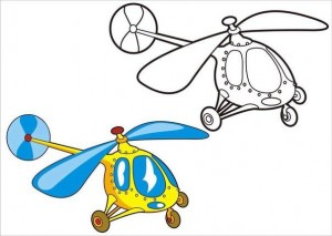 okul_öncesi_taşıtlar_boyama_helikopter