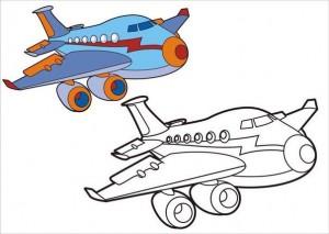 okul_öncesi_taşıtlar_boyama_uçak