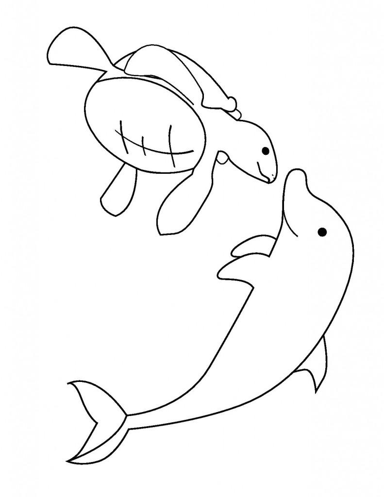 Yunus Balığı Resmi Boyama