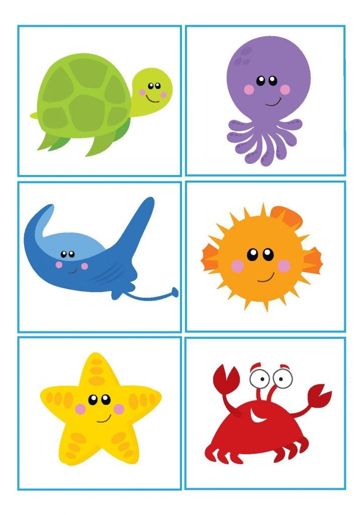 Okyanus Hayvanlari Calismalari Okul Oncesi Deniz Canlilari Temasi