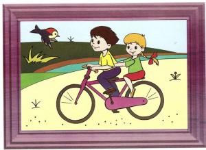 renkli_boyama_çalışması_bisiklet