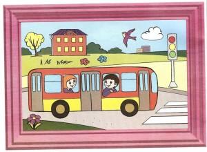 renkli_boyama_çalışması_otobüs