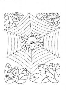 resimlerle_çizgi_çalışması_örümcek