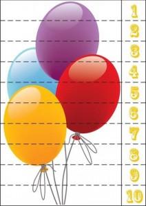 balon sayı puzzle