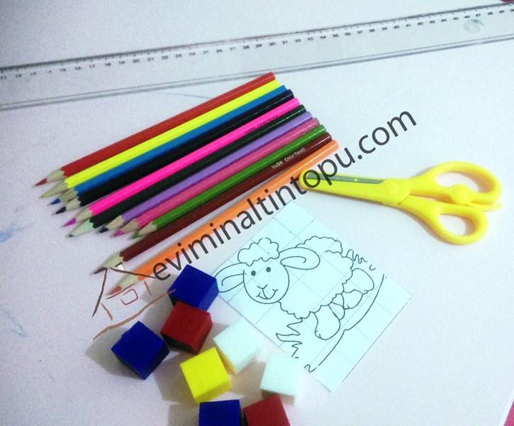 birim küplerden puzzle yapımı