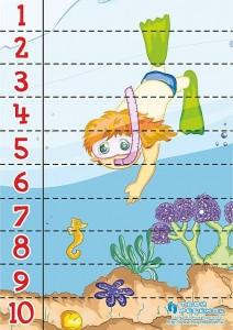 dalgıç sayı puzzle