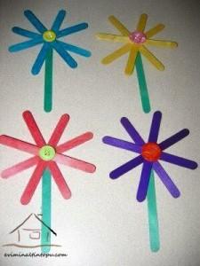 dil çubuklarından çiçekler