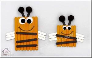dil çubuklarından arı yapımı