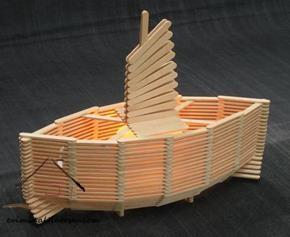 dil çubuklarından gemi