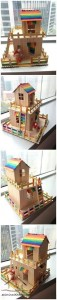 dil çubuklarından harika evler