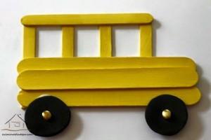 dil çubuklarından otobüs