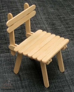 dil çubuklarından sandalye