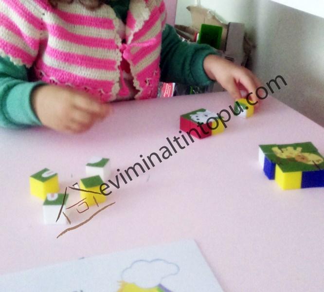 eş küplerden puzzle çalışması