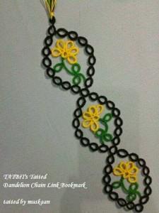 el örgüsü kitap ayraçları çiçek modeli