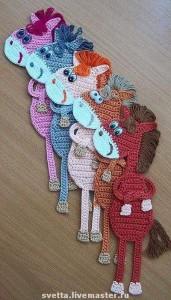 el örgüsü kitap ayraçları at modeli
