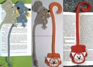 el örgüsü kitap ayraçları fare modeli