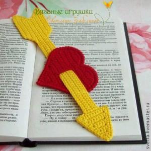 el örgüsü kitap ayraçları kalp modeli