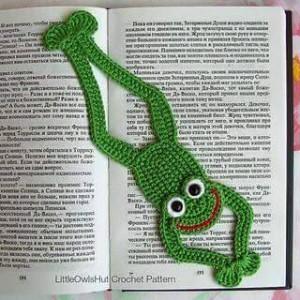 el örgüsü kitap ayraçları kurbağa modeli