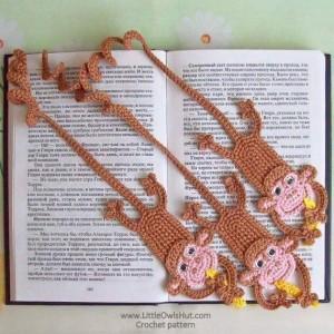 el örgüsü kitap ayraçları maymun modeli