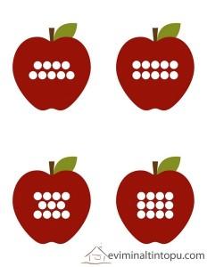 elma kurdu ile tane hesabı etkinliği