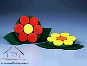 kapaklardan çiçek etkinliği