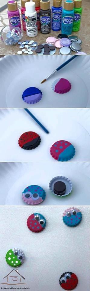 kapaklardan boyama etkinliği