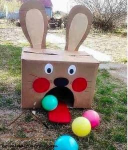 kartondan oyuncak aç tavşan yapımı