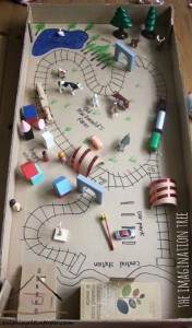 kartondan oyuncak araba pisti