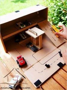 kartondan oyuncak otopark yapımı