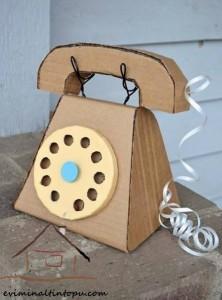 kartondan oyuncak telefon yapımı