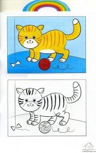 kedi boyama çalışması