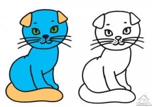 kedi boyama çalışması okul öncesi
