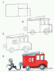 kolay otobüs çizimi