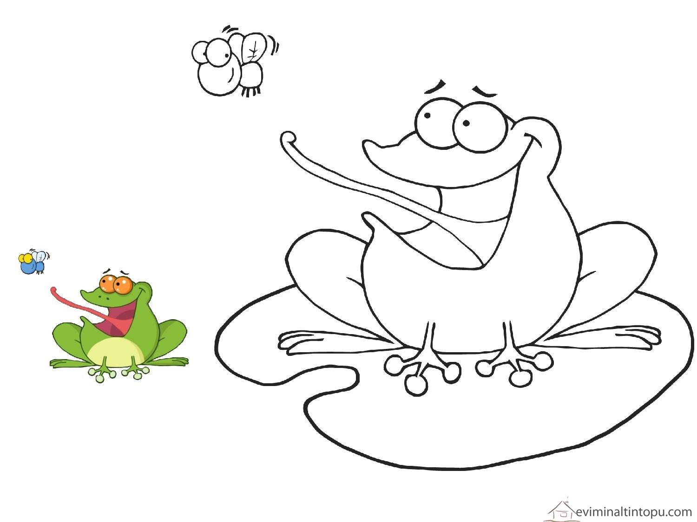 Kurbağa Boyama Sayfaları Evimin Altın Topu