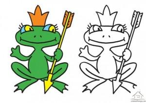 kurbağa boyama çalışması