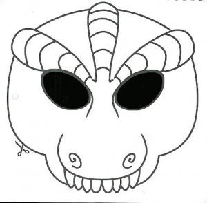 maskesi kalıbı siyah beyaz hayvanlar