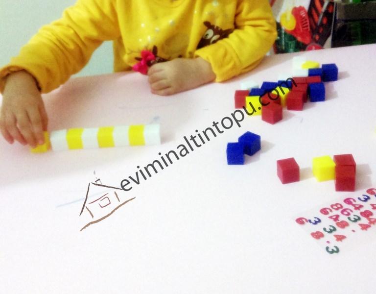 okul öncesi birim küpler ile örüntü çalışmaları